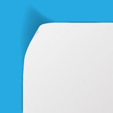 White sheet of paper with curved corner Royalty Free Stock Image