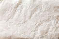 White sheet of paper folded Royalty Free Stock Image