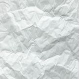 White sheet of paper folded. Crushed and folded white sheet of paper. Note paper. Wrinkled paper Stock Photography