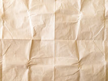 White sheet of paper folded. Crushed and folded white sheet of paper. Note paper. Wrinkled paper Royalty Free Stock Photos