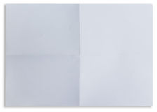 White sheet of paper folded in four isolated Stock Images