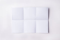 White sheet of paper. Folded texture royalty free stock photography
