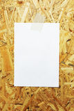 White sheet of paper glued to plywood Royalty Free Stock Photography