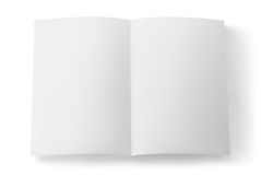 White sheet of paper isolated Stock Photos