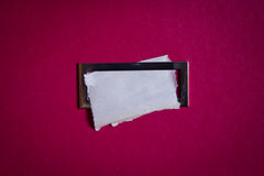 White sheet of paper for notes Royalty Free Stock Image