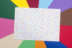 White sheet paper with stars. Royalty Free Stock Images