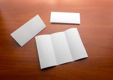 White sheet of paper on the table Royalty Free Stock Photography