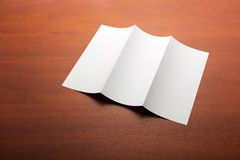 White sheet of paper on the table Stock Photography