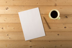 White sheet on table Royalty Free Stock Images