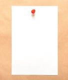 White sheet for taking notes Stock Photos