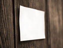 White sheet on a wooden fence Royalty Free Stock Photos