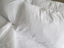 White Sheets Stock Photo