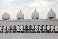 White Sheikh Zayed mosque at Abu-Dhabi, UAE Stock Photography