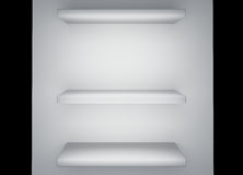 White shelf 3d rendering Royalty Free Stock Image