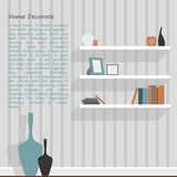 White shelf of interior decorate Royalty Free Stock Photos