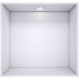 White shelf with a light source Royalty Free Stock Images