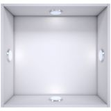 White shelf with a light source Stock Photos