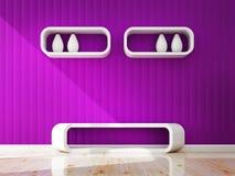 White shelf and site Stool decorate Stock Photos