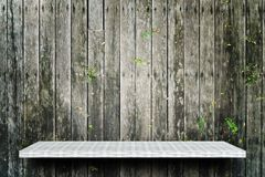white shelf on wooden background for product display royalty free stock photography