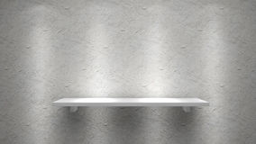 White shelve. On concrete wall Stock Photo