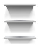 White shelves Royalty Free Stock Images