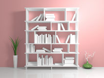 White shelves Royalty Free Stock Photography