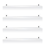 White shelves illustration Stock Photo