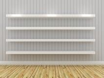 White shelves Stock Photo