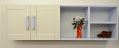 White shelves with things Royalty Free Stock Photography