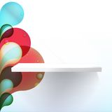 White shelves vector. + EPS10 Stock Photography
