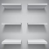 White Shelves Stock Images
