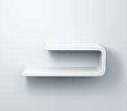 White shelves on the wall 3d model Stock Photo