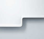 White shelves on the wall 3d model Royalty Free Stock Photography