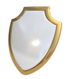 White shield stock image
