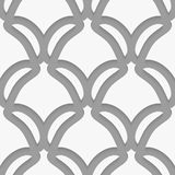 White shield shapes on gray pattern Royalty Free Stock Images