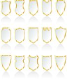 White shields Stock Images