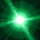 White shining circles and stars green background Royalty Free Stock Photos