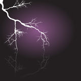 White shining lightning. Vector. Stock Photography