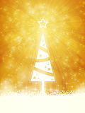 White shiny Christmas tree Royalty Free Stock Photos
