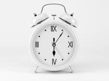 White Shiny Clock. On white background Stock Photography