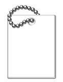White Shiny Luggage Tag Illustration Royalty Free Stock Photo