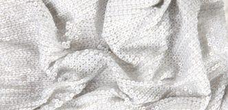 White shiny sequin textile background Royalty Free Stock Image