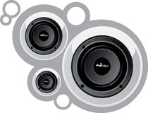 White shiny speakers Royalty Free Stock Images