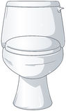 White Shiny Toilet. A vector illustration of a white shiny toilet with the lid closed Stock Photos