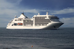 White Ship Stock Photo