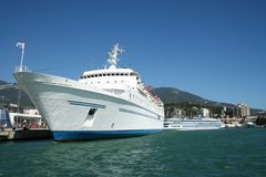 White ship Stock Photography