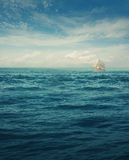 White ship Stock Images
