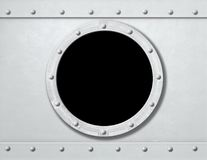 White ship porthole or window metal background Royalty Free Stock Photography