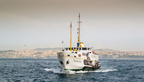 White ship on water Stock Photos