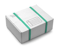 White Shipping Box Stock Photo